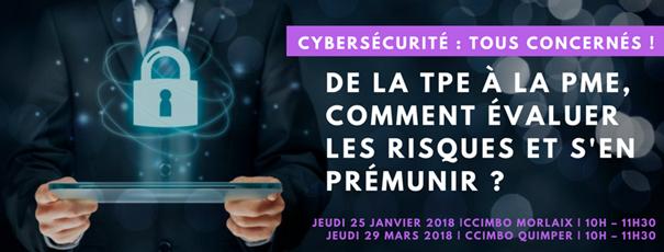 Réunions «Cybersécurité : tous concernés !» à la CCIMBO – Morlaix